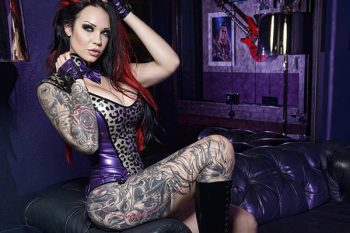 Deadly Couture Leopard Bodysuit. Model: Starfucked; photo: Radiant Inc