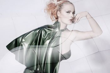 Skintight Latex cloak. Photo: Ivo Rikkert