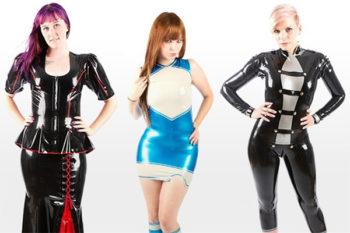 LLdeSaxe Women's Latex Styles