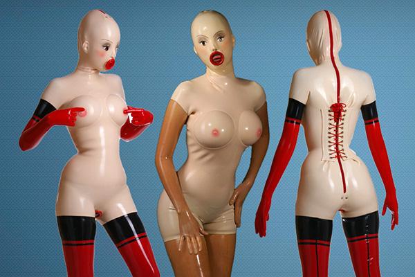 Suit latex doll We Spent