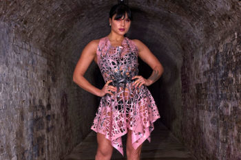 Rose Noir Designs Evie Latex Mesh Dress. Photo: Simon Photography