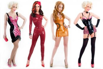Tentacle rubber costumes custom made for Nocturne Couture