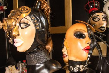 German Fetish Fair exhibitors in 2018 included Mask & Co. Photo: Tony Mitchell