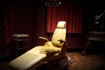 Dentist's chair at Townhouse Dungeons which hosts Radical Desire each month