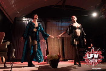 Fetish Theatre opens LFW 2019. Photo from its LFW 2018 performance: Bobette