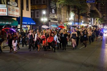 DomCon New Orleans' Second Line Parade through the French Quarter in 2018. Photo: 2G Photography